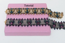 Beading tutorial Dessert Butterfly Peyote bracelet